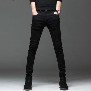 MaoMaoLeYenDa 2019 nouvelle arrivée mince occasionnels de haute qualité des hommes élastiques jeans noir, pantalon crayon hommes, jeans slim hommes