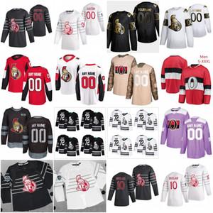 Custom 2020 All Star 10 Anthony Duclair 7 Brady Tkachuk Ottawa Sénateurs Hockey Jerseys 44 Jean-Gabriel Pageau 28 Connor Brown Thomas Chabot