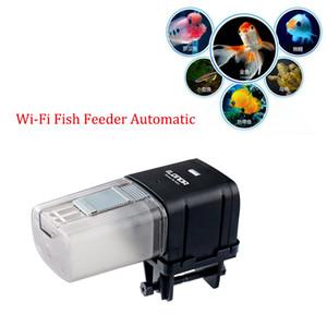 WiFi Remoto Controle Inteligente automático de peixes Alimentador tanque do aquário Alimentadores Food Fish Tank alimentação Máquina Aquarium Feeder Atacado