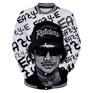 Gangsta Rap Eazy E Track Jackets Streetwear Mens 2019 힙합 코트 White Jackets Dropshipping Eazy E Baseball 제복
