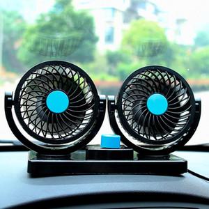 Fan Yaz Oto Hava Araç Aksesuarları Soğutma 12V / 24V Elektrikli Araç Fan Çift Kafa Kamyon Güçlü Sessiz Büyük Rüzgar