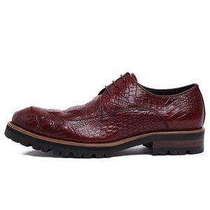Kış Erkekler Formal Ayakkabı Gerçek Deri İnek Dantel Elbise Burun İş