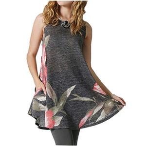 Yaz moda kadın Flora desen elbiseler