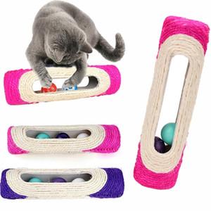 Cat Rolling Sisal Царапинам Игрушки Pet Cat Котенок Роллинг Сизаль Царапинам Игрушки с Захваченным Мяч Обучающие Игрушки