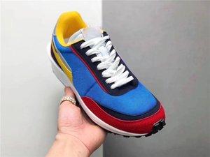Ayakkabı Koşu 2019 Yeni Otantik LD LDV Waffle Sacai VARSITY Mavi Yeşil GUSTO Çoklu Daybreak Blazer Mid Dunk Erkekler BV0073-400 BV0073-300
