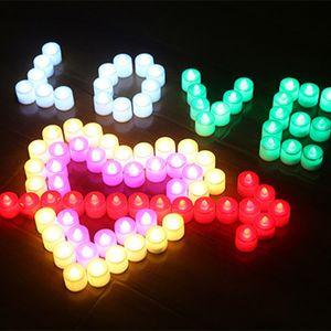 LED 촛불 할로윈 크리스마스 플라스틱 발광 장난감 야간 조명을 점등 전자 촛불을 LED 조명