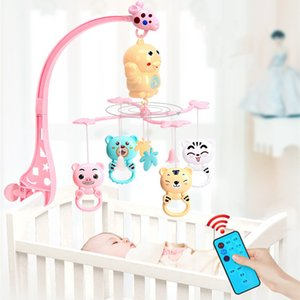 Baby Rattles Bracket Set toddler Sensory toy Crib Mobiles Holder Rotating Musical Box bed Bell Newborn Infant Baby Boy Toys Y200428