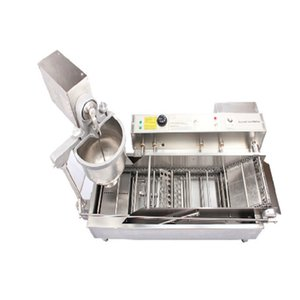 doble fila eléctrica fabricante de máquina automática de donut freidora donut y aseguramiento de la calidad de temporización