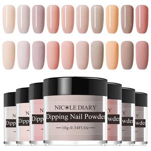 10g nue Série poudre Set pur Français Tremper ongles Glitter Sans lampe Cure Dip Nail Art Design Manucure poudre