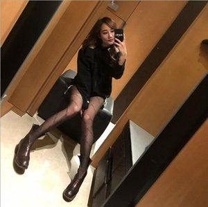 kadınlar Tayt Siyah küçük harfler logosu Külotlu çorap seksi ince jakarlı romper ipek çorap kadın yaz seksi çorap çorap dantel