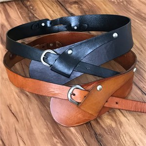 Genuine Leather Wide Belts For Women Belts Cummerbunds Ceinture Femme Cinto Feminino Ladies Vintage Cowgirl Belt Female BTW0043