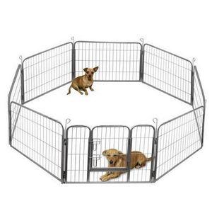"Praktische HOT SALES 32"" Dog Pet Playpen Heavy Duty Metall Exercise Zaun Hammigrid 8-Panel"
