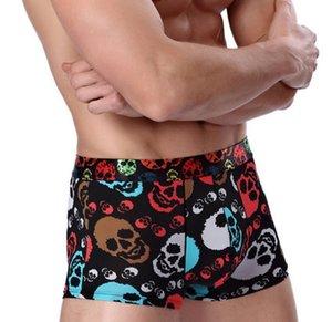 İç Erkekler Pamuk Underwears Boxer Baskı Şort Bulge Kılıfı Külot Nefes Boksörler