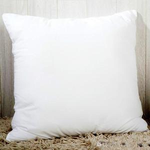 Impressão Calor Hot Branco Sublimation fronha em branco Fronhas OEM Almofada 40x40cm 45 * 45 centímetros, sem inserção reforçar Oreiller O6ED