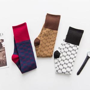Lacivert Beyaz Haki Kadınlar Çorap Shank Uzun Tüp Çorap Sonbahar Ve Kış Tide Markalı Moda Kız Çorap Çorap Hip-hop