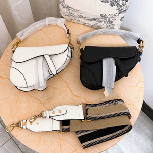 패션 여성 Dior 안장 화이트 블랙 가방 정품 가죽 핸드백 지갑 어깨 크로스 바디 메신저 가방 여성 20cm 25cm