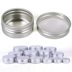Diferentes tamaños Contenedores vacíos Tarro cosmético de aluminio Latas de té Estuches de caja de aluminio Maquillaje Tarros de brillo labial vacíos Caja de tarros cosméticos BH2197 TQQ