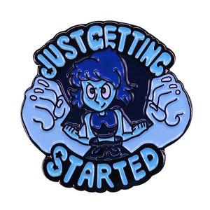 Just Getting Started Cartoon Lapel Pin Vocaloid Chibi Hatsune Miku Wonderful Stocking Stuffer for Kids