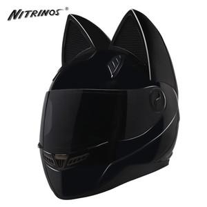 NITRINOS Motosiklet Kaskı Kadınlar Motokros Tam Yüz Kask Moto Visor Capacetes De motociclista Yenilik Casque Moto Flip Up