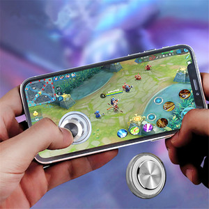 Round Game Joystick Mobile Phone Rocker For Iphone Android Tablet Metal Button Controller For PUBG Controller With Suction Cup Game Joystick
