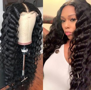 H Peruvian Water Wave Lace Front Wig Pre Plucked Virgin Glueless Water Curly Full Lace Human Hair Wigs With Baby Hair