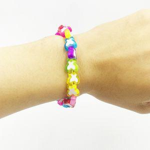 중국 보석 제조 업체에서 여자 아이 여성을위한 도매 손으로 나비 모양의 팔찌