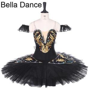 preto Professional Ballet Tutu saia mulheres Black White Ballet Clássico Tutus bailarina vestido da dança personalizado CostumeBT9258