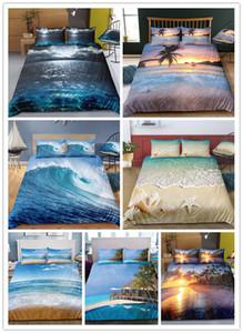 3D Baskılı Nevresim Plaj Yastık CY200519 ile set Bedding Yetişkinler için Ev Tekstili Denize
