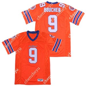 Bobby Boucher 9 Adam Sandler filme The Mud Waterboy Dogs Jersey com a camisa Bourbon bacia remendo costuras duplas Futebol