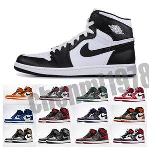 Nike Air Jordan 1 AJ1 Retro 1 zapatos de alta OG Travis Scotts baloncesto para hombre araña UNC homenaje a Home Royal Blue Men Sport zapatillas de deporte 36-47 T33