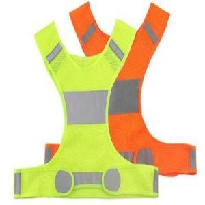 Görünürlük Yansıtıcı Yelek Açık Güvenlik Yelek Bisiklet Yelek Çalışma Gece Koşu Spor Açık Giyim Yelek 100 adet