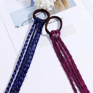 New Girls Colorful Wigs Ponytail Fasce Rubber Bands Beauty Headwear Kids Accessori per capelli Fascia per capelli