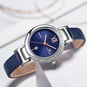 NAVIFORCE New Mulheres Moda Quartz Relógio Feminino Casual impermeável Relógio Relógio de pulso Senhoras Relógios 2019