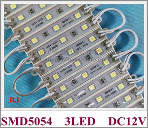 السوبر مشرق SMD 5054 وحدة LED الصمام وحدة الإضاءة الخلفية الخفيفة يعود لحرف علامة DC12V 3LED 3 * 0.4W 1.2W 150LM IP66 للماء