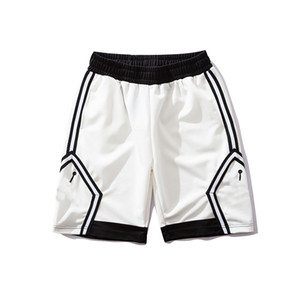 Designer Shorts Shorts Esportivos para Homens Calções De Basquete Homens Marca Calças Nova Moda Jogger O Tiro Cabra Homens Preto e Branco