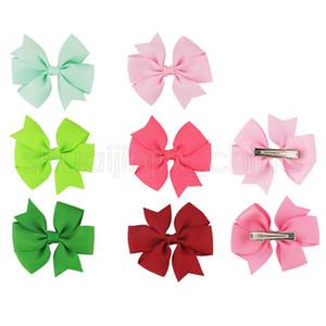 Bébé Bow Ruban Barrettes Mignon Enfants bonbons Couleurs bowknot Moulinet Hairpins Girl Party Barrettes Accessoires pour cheveux TTA1206-14