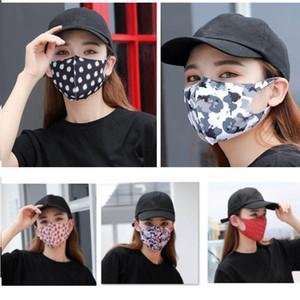 Hielo seda impreso floral de la mascarilla de la máscara a prueba de polvo al aire libre Inicio camuflaje Sun UV de protección 7 colores HH9-3019