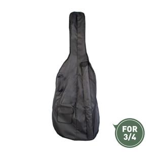 3/4 Viyolonsel Çanta Ayarlanabilir Omuz Askısı Siyah Taşınabilir Profesyonel Dayanıklı Su Geçirmez Yumuşak Kapak Durumda