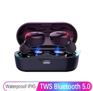 سماعات بلوتوث True Wireless Headphones 5.0 TWS In-Ear Earbuds IPX5 Waterproof Mini Headset 3D Stereo Sound Sport Earpiece