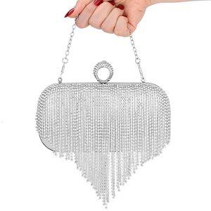 Frauentasche Quasten Hand nehmen Bankett Handtasche Strass Clutch Braut Abendbeutel