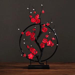 Fiore artificiale Cherry Spring Plum Peach Blossom Branch Germoglio dell'albero del fiore di seta per le decorazioni della festa nuziale