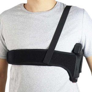 Universal Tactical Armpit Band Concealed Carry Gun Holster Pistol Invisible Elastic Armpit Waist Pistol Holster Girdle Belt YD0201