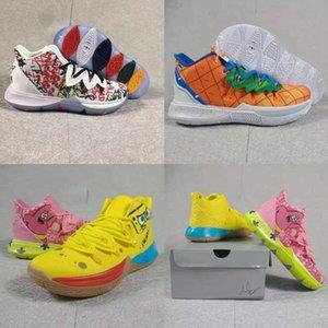 New Pineapple House 5 Zapatos Kyrie Low 2 Sapatos Basquete Masculino 20th Anniversary Irving 5s Graffiti x Multi-Cor Sponge Esporte Sneakers
