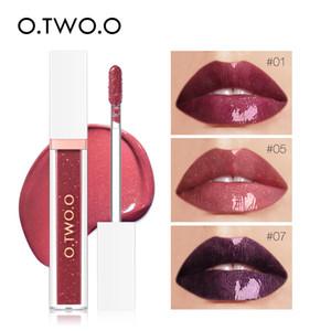 2019 O.TWO.O 스카이 미러 글라스 워터 7colors 반짝이 립 글로스 롱 라스팅 방수 부드러운 립글로스 립스틱 튜브 착용하기 쉽다