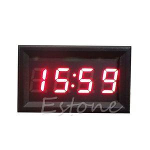 Vente chaude Affichage LED Horloge numérique Tableau de bord 12V / 24V Auto Moto Accessoires 1pc