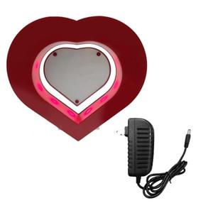 2017 Floating Photo Frame Red Heart магнитной левитации Фотографии Рамка Магнитная подвеска Фото Главная Отделка офиса