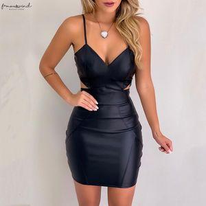 Sleeveless Women Bodycon Slim Short Mini Dress Sexy V Necktie Party Clubwear Pencil Dress Solid Fashional Strapless Sheath Dress