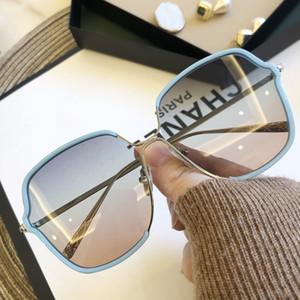 High Quality Brand Women Sunglasses Luxury Glasses Lady Sun glass Woman 2020 Gradient Pink Blue Lens Men Eyeglasses