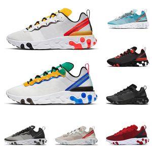 2020 nike react element 87 Undercover 55 chaussures de running pour hommes, femmes Royal Tint Anthracite Sail noir, entraîneur, baskets de sport