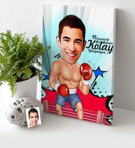 Персонифицированный Мужчины Boxer мультфильм Холст Стол (30х50 см.) 1 Другие Праздничные товары для вечеринок